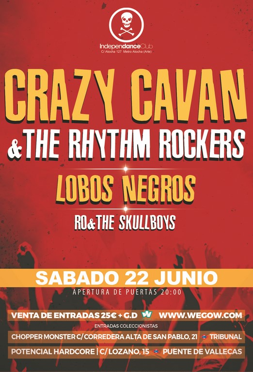 CRAZY CAVAN MADRID 2019 FLYER
